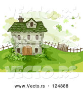 Vector of Cartoon St. Patrick's House on a Hill by BNP Design Studio