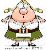 Vector of Cartoon Surprised Chubby Oktoberfest German Lady by Cory Thoman