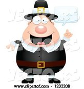 Vector of Cartoon Talking Male Thanksgiving Pilgrim by Cory Thoman