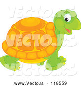 Vector of Cartoon Tortoise Walking by Alex Bannykh