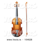 Vector of Cartoon Violin and Bow by Graphics RF