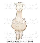 Vector of Cartoon White Llama by BNP Design Studio