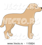 Vector of Cartoon Yellow Labrador Retriever Dog in Profile by Maria Bell