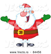 Vector of Cheerful Santa Claus by Hit Toon