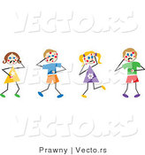 Vector of Chicken Pox Stick Figures by Prawny