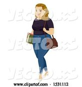 Vector of Chubby Teen Girl Student by BNP Design Studio