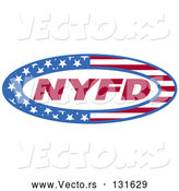 Vector of Circle of Stars and Stripes Around Nyfd by Andy Nortnik