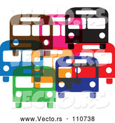 Vector of Colorful Buses by ColorMagic