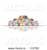 Vector of Colorful City Building and Reflection by ColorMagic