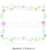 Vector of Colorful Flowering Vines - Background Border Design by Bpearth