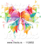 Vector of Colorful Geometric Butterfly by BNP Design Studio