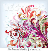 Vector of Colorful Leafy Floral Background Design by OnFocusMedia