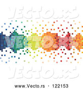 Vector of Colorful Pixels Forming a Border with Loose Tiles by Dero