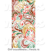 Vector of Colorful Vertical Flourish Border Border Background Design by OnFocusMedia