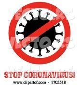 Vector of Coronavirus in a Prohibited Symbol by Hit Toon