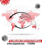 Vector of Coronavirus Outbreak Map by Cidepix