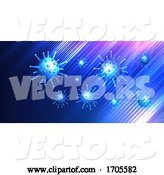 Vector of Covid 19 Virus Cell Medical Background by KJ Pargeter