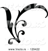 Vector of Curving Black Branch Scroll by OnFocusMedia