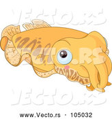 Vector of Cute Blue Eyed Cuttlefish by Pushkin
