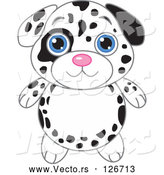 Vector of Dalmatian Puppy with Big Blue Eyes by Pushkin