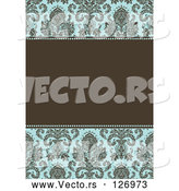 Vector of Damask Patterned Invitation Border and Frame with Copyspace - Version 3 by BestVector