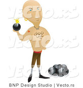 Vector of Dangerous Pirate Beside Bombs by BNP Design Studio