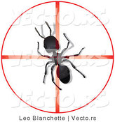 Vector of Dead Ant in Center of Reticle Crosshairs by Leo Blanchette