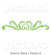 Vector of Decorative Green Floral Rule Border Design by Cherie Reve