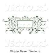 Vector of Decorative Green Vines Background Frame by Cherie Reve