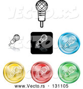 May 3rd, 2018: Vector of Different Colored Microphone Icon Buttons by AtStockIllustration