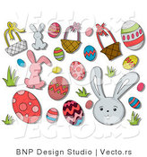 Vector of Digital Collage: Easter Icons by BNP Design Studio