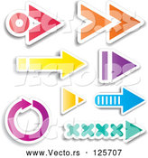 May 4th, 2018: Vector of Digital Collage of Colorful Arrow Design Elements by KJ Pargeter