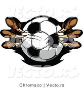 Vector of Eagle Talons Gripping a Soccer Ball by Chromaco