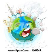 Vector of Earth Globe Coughing by Graphics RF