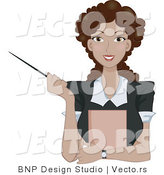 Vector of Ethnic Business Woman Holding a Pointer by BNP Design Studio