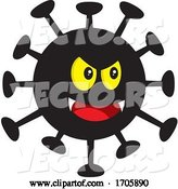 Vector of Evil Black Coronavirus by Any Vector