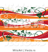 Vector of Fall Autumn Style Banners with Vines - Digital Collage Borders by MilsiArt