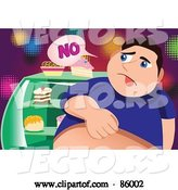 Vector of Fat Guy Denying Himself Sweets by Mayawizard101
