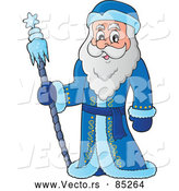 Vector of Father Frost Smiling by Visekart
