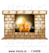 Vector of Fire Burning in a Hearth by Graphics RF