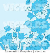 Vector of Floral Background Design with Blue Flowers by Vector Tradition SM