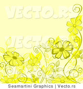 Vector of Floral Background Design with Yellow Flowers by Vector Tradition SM