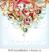 Vector of Floral Vines Top Border Background Design by OnFocusMedia