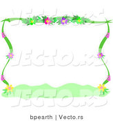 Vector of Flowering Plants - Background Border Design by Bpearth