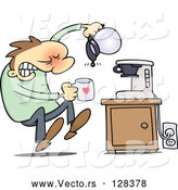 Vector of Flustered Guy Discovering That the Coffee Pot Is Empty by Gnurf