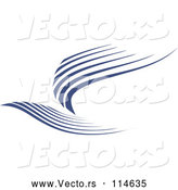 Vector of Flying Blue Bird by Vector Tradition SM