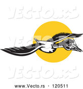 Vector of Flying Goose and Sun by Patrimonio