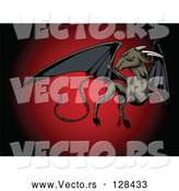 Vector of Flying Jersey Devil with Black Pointed Wings by R Formidable