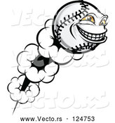 Vector of Flying Softball Character by Vector Tradition SM