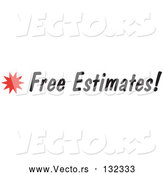 Vector of Free Estimates Sign with a Star Burst by Andy Nortnik